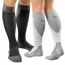 Jobst Sport Knee High Sock 15 30 mmHg 20-30 mmHg Medium White/Grey - $65.92