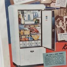 1937 Westinghiuse Refrigerator Advertisement Single Door Vintage Kitchen  - $26.13
