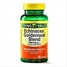Spring Valley Echinacea & Goldenseal Extract Blend 900mg 75 Vegetarian C... - $18.69