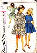 1965 DRESS Pattern 6110-s Girl's Size 7 - UNCUT - $10.99