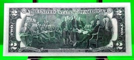 MONEY US $2 DOLLARS 1976 FEDERAL RESERVE NOTE STARS OF MUSIC BEATLES GEM UNC image 2