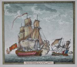 Antique Louis Philippe Crepin Naval Print Vaisseau Espagnol de 70 canons - $75.00
