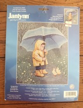 Janlynn Counted Cross Stitch Kit Rainy Day Friends Child & Ducklings Umb... - $16.40