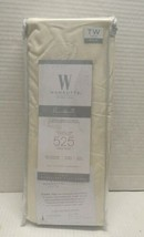 Wamsutta 525-Thread-Count PimaCott  Twin Oversized Flat Sheet SOLID IVORY - $24.74