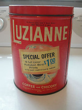 Luzianne Coffee and Chicory tin, Wm. B. Reilly & Co, 1962, old, rare, Au... - $137.75