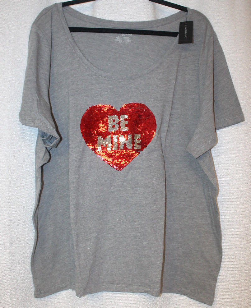 Primary image for NEW WOMENS PLUS SIZE 26/28  VALENTINES DAY T SHIRT SAYS BE MINE OR NO WAY
