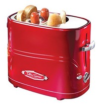 Nostalgia Retro Pop-Up Hot Dog Toaster (Retro Red) - $28.66