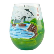 "Adirondack ""Designs by Lolita"" Stemless Wine Glass 20 o.z. 4.53"" H Giftbox image 2"