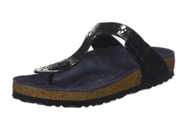 Birkenstock GIZEH Metallic Stones Black Sandal Regular Fit EU 37 39 - $70.80+