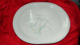 CORELLE 12.25 IN OVAL SERVING PLATTER VARIATION SPRING POND VGUC FREE US... - $28.04