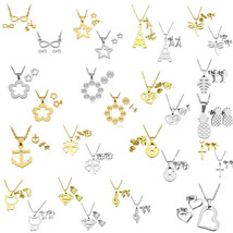 Fashion Stainless Steel Jewelry Set Collection Pendant Necklace Earrings... - $23.40