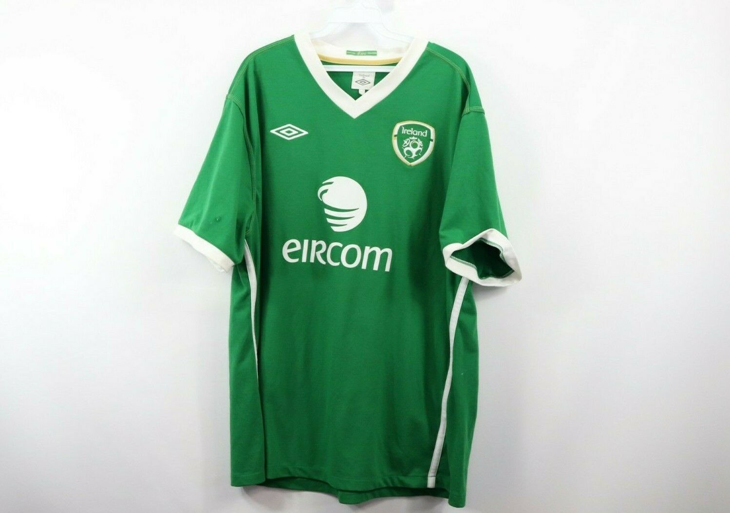 5f79a787a60 57. 57. Previous. Umbro Mens 2XL XXL Ireland Eircom World Cup Soccer Jersey  Futbol Green Eire