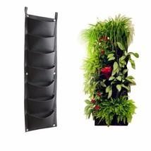 7 Pockets Outdoor Indoor Vertical Garden Planting Bag Hanging Wall Balcony  - $19.45 CAD
