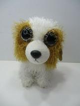 """AURORA Dog Barking Panting Big Eyes Long Hair Plush 7"""" - $9.99"""