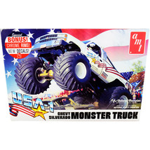 Skill 2 Model Kit Chevrolet Silverado USA-1 Monster Truck 1/25 Scale Mod... - $59.17