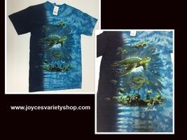 Florida Ocean Turtles T-Shirt Adult Small Gildan Ultra Cotton - $10.99