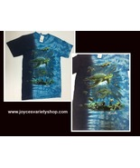 Florida Ocean Turtles T-Shirt Adult Small Gildan Ultra Cotton - $10.99