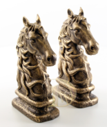 Iron Sculpture shows the Horse Head set signed antique home decor *Free ... - $149.00