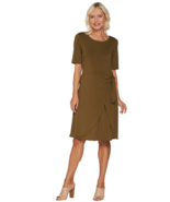 H by Halston X-Small Regular Jet Set Jersey Dress with Faux Sarong Tie B... - $23.16
