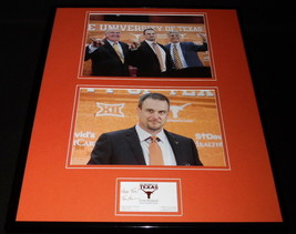 Tom Herman Signed Framed 16x20 Business Card & Photo Display Texas Longh... - $168.29