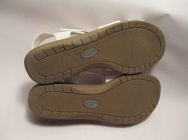 Sandals Slingback White 2 Crixi VGUC Toe Foam Open 1 8 M Memory Mushrooms Womens n7qZgYq
