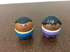 Little Tikes Toddle Tots African American Black Boy & Girl Lot Of 2 Tots People - $9.89
