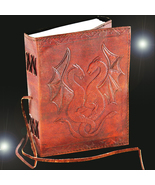 Haunted 27X LUCK MAGNIFIER JOURNAL HIGH MAGICK LEATHER BOUND WITCH CASSIA4 - $87.77