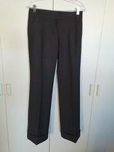 J. CREW LADIES GRAY WOOL BLEND STRETCH DRESS PANTS w/CUFFS-2 CITY FIT-LI... - $14.99