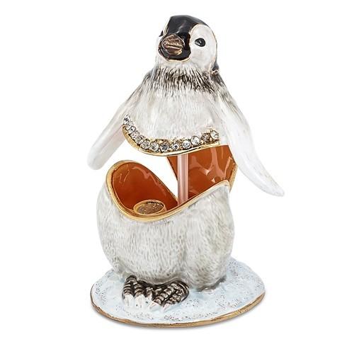Bejeweled Baby Penguin Trinket Box