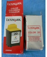 New Lexmark 20 - 15M0120 Color Ink Cartridge - NEW SEALED - $11.87