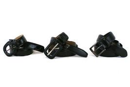 Lot of 3 Black Belts Size Medium & Large Leathe... - $10.17