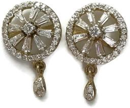 Ea  e257 Bollywood Fashion Polki Oxidised Silver Earring Set. Indian Jew... - $12.99