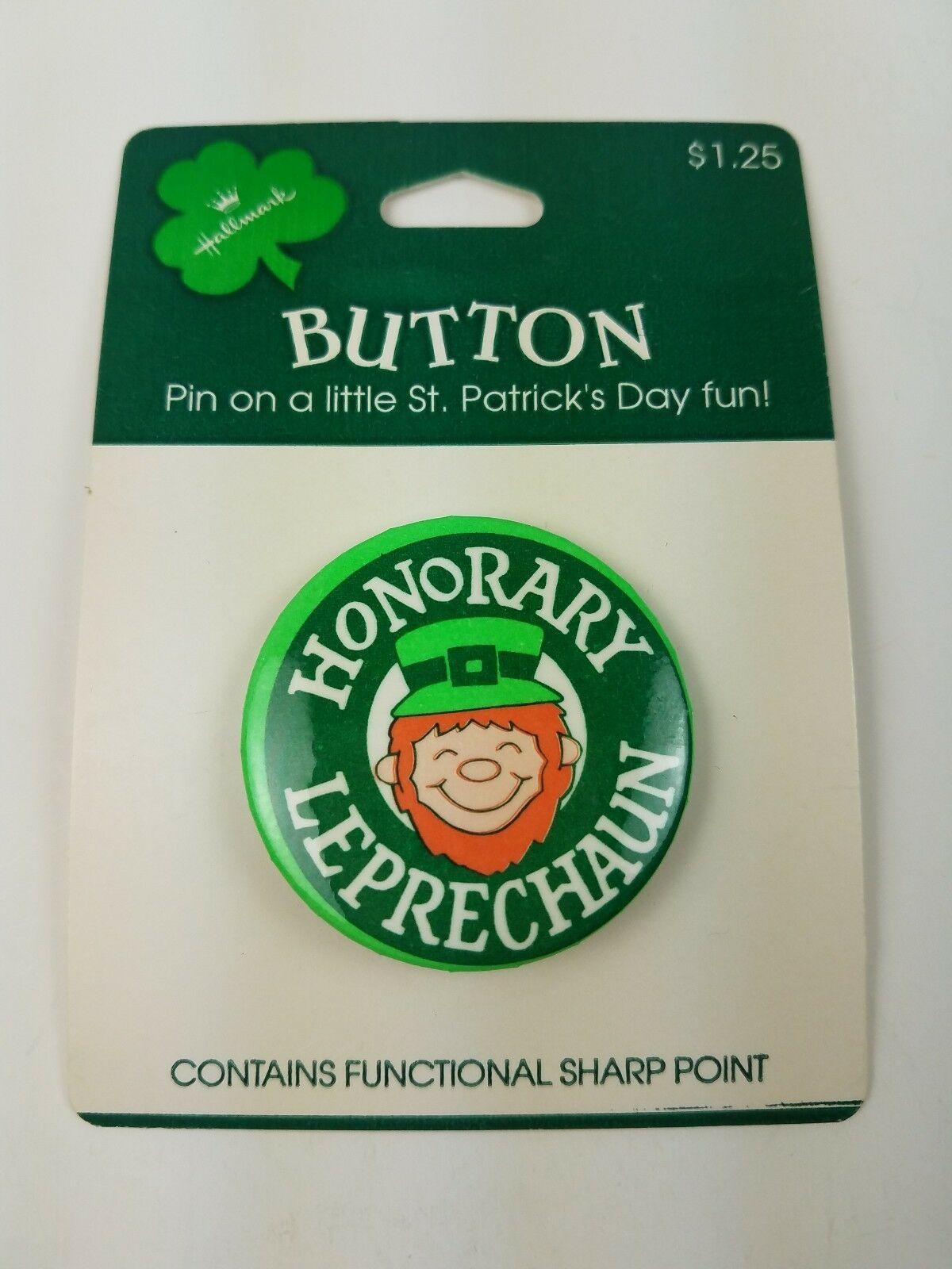Vintage Hallmark Holiday St Patrick's Day Pin Honorary Leprechaun