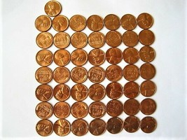 1957-D Roll 50 CH BU - BU Lincoln Wheat Pennies Multi-available - $19.95