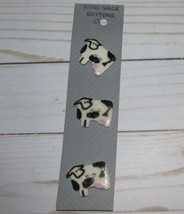 Vtg 3pcs Handmade COW Ceramic Painted Farm Butt... - $19.00