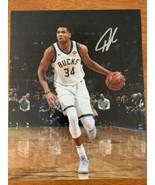 Giannis Antetokounmpo Bucks Signed Autographed 8x10 Photograph Photo W/COA - $74.51
