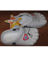 Kids Size 7 Toddler Boy Girl Baby White Clogs Sandals Neoprene Rubber - $8.99