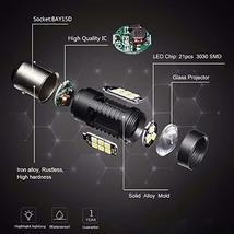 1156 LED Bulbs 2400 Lumens Xenon White Extremely Bright BA15S 7506 1003 1141 107 image 5