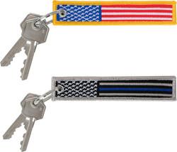 Thin Line US Flag Patch Key Chain US Patriotic Key Ring - $6.99