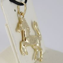 Yellow Gold Pendant or White 750 18K, Horse Convex, Pony image 3