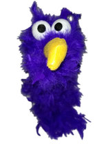 "C13 * Deluxe Custom ""Purple Bird""  Sock Puppet * Custom Made - $10.00"