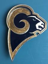 NEW LOS ANGELES RAMS Logo BELT BUCKLE NFL PEWTER NEW Football Fan Gear - $9.89