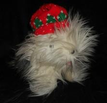 VINTAGE 1990 CHRISTMAS COMMONWEALTH SHEEPDOG WHITE DOG STUFFED ANIMAL PL... - $22.21