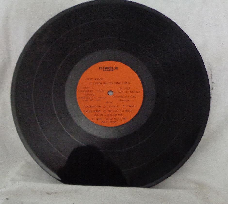 "`Vintage ED WATSON & BRASS CIRCLE Heavy Roller Lp 33 RPM 12"" Circle Records"