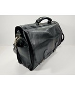 Bombardier Aerospace Leather Padded Computer Briefcase by Leeds-Black. - $125.91
