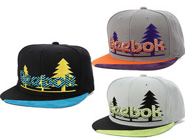 REEBOK The TREES Snapback Hat Baseball Cap Gray Black adjustale NEW RBK - £20.56 GBP+