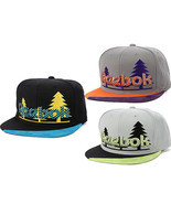 REEBOK The TREES Snapback Hat Baseball Cap Gray Black adjustale NEW RBK - £10.27 GBP+