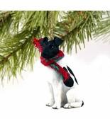 Fox Terrier Miniature Dog Ornament - Black %26amp; White by Conversation... - $15.64