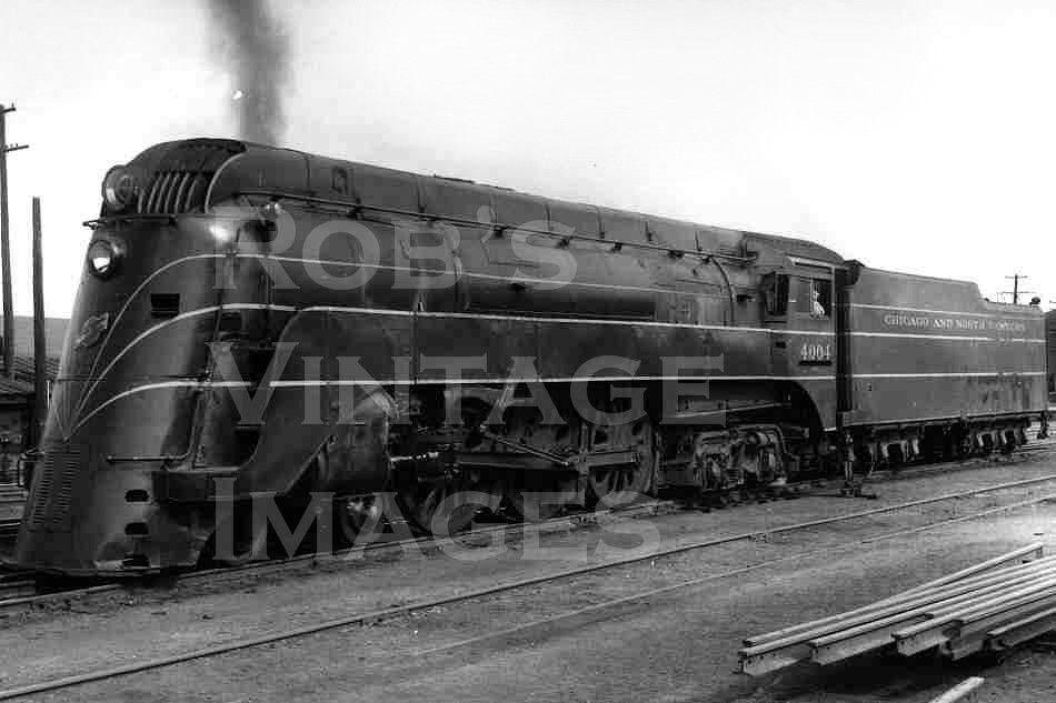 Chicago North Western 400 CNW photo Steam Locomotive Hudson 4-6-4 Running