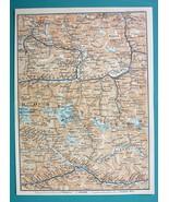 """1905 MAP Baedeker - AUSTRIA Alps Grossglockner & Environs 6 x 8"""" (15 x 2... - $6.08"""